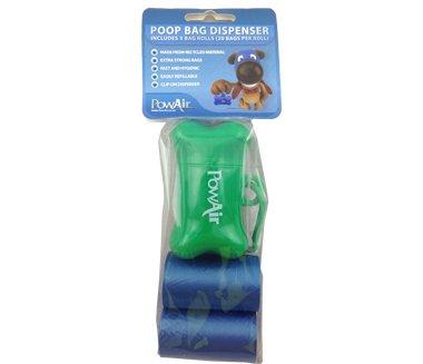 Powair poop bag dispenser sacchetto monouso raccogli feci sacchetto usa e getta per animali sacchetti cacca cane sacchetti raccogli feci (2)