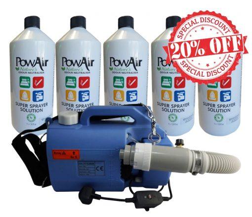 offerta Super sprayer machine + prodotti Powair Super sprayer machine atomizzatore profumi atomizzatore anti odori atomizzatore professionale atomizzatore per ambienti neutralizza odori atomizzatore