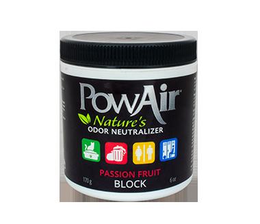 powair block neutralizzatore di odore a base di oli essenziali in cera solida profuma ambienti in cera profumo auto elimina odori animali fragranza passion fruit
